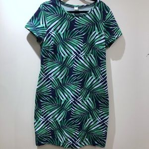 OLD NAVY / tropical palm print stretchy dress